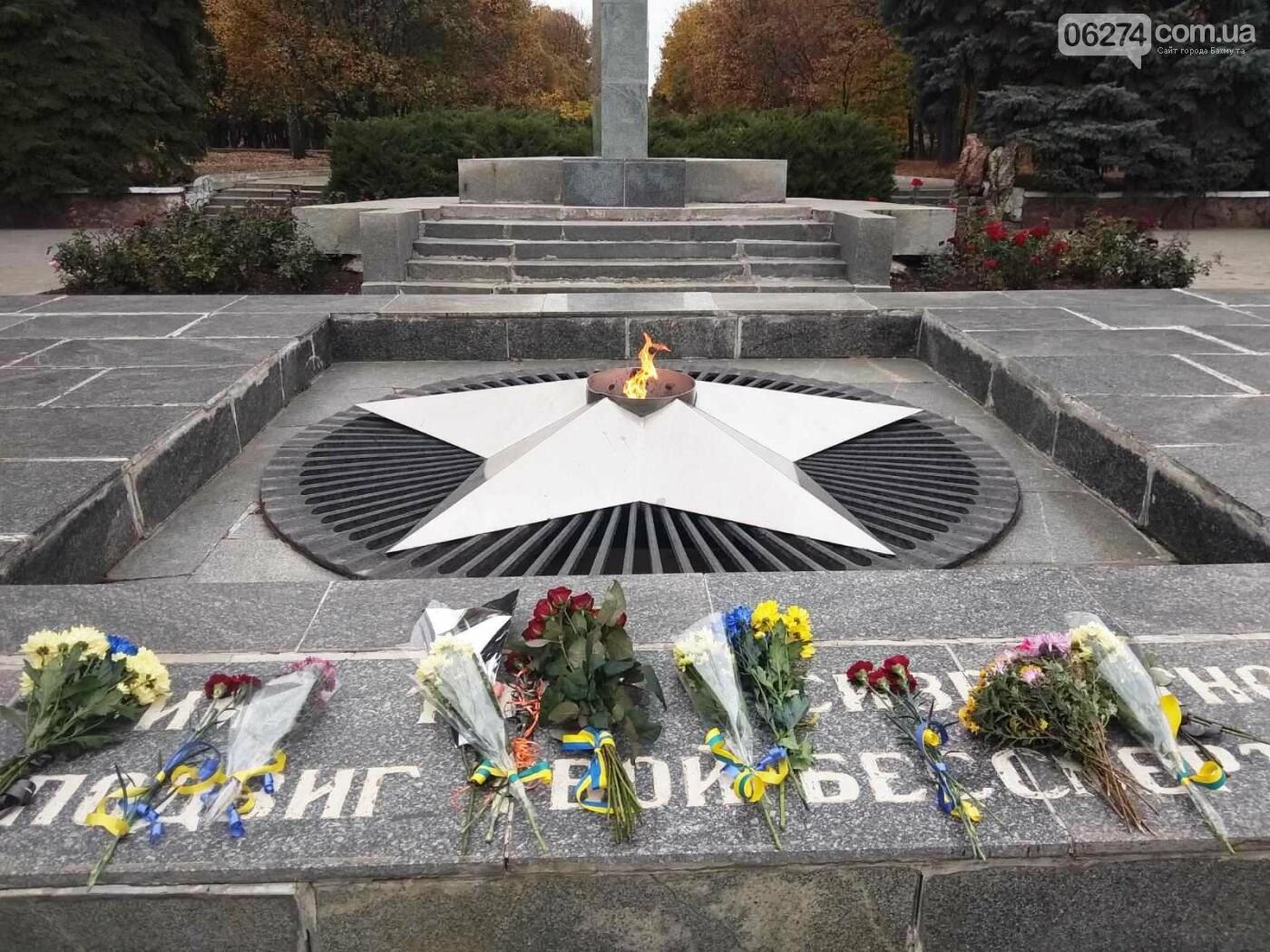 В Бахмуте отметили 76-ю годовщину освобождения Украины от нацистов, фото-4