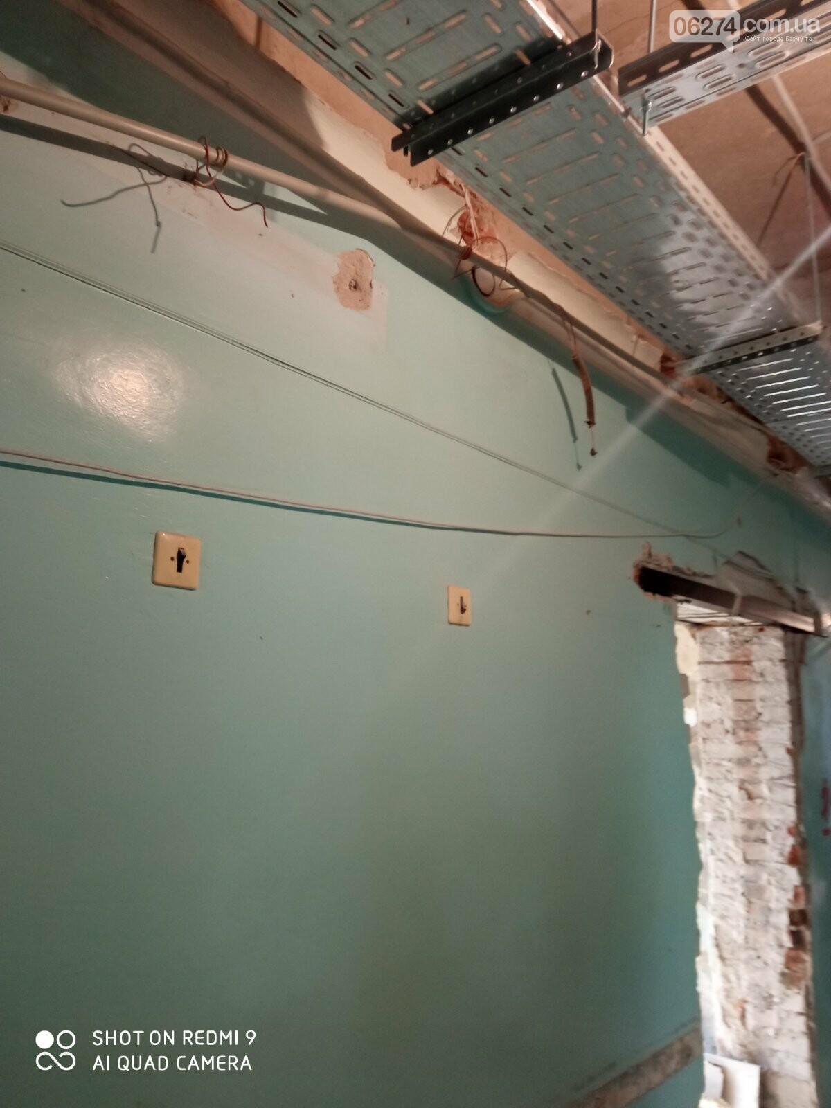 В Бахмутской больнице продолжается ремонт хирургического отделения, фото-1