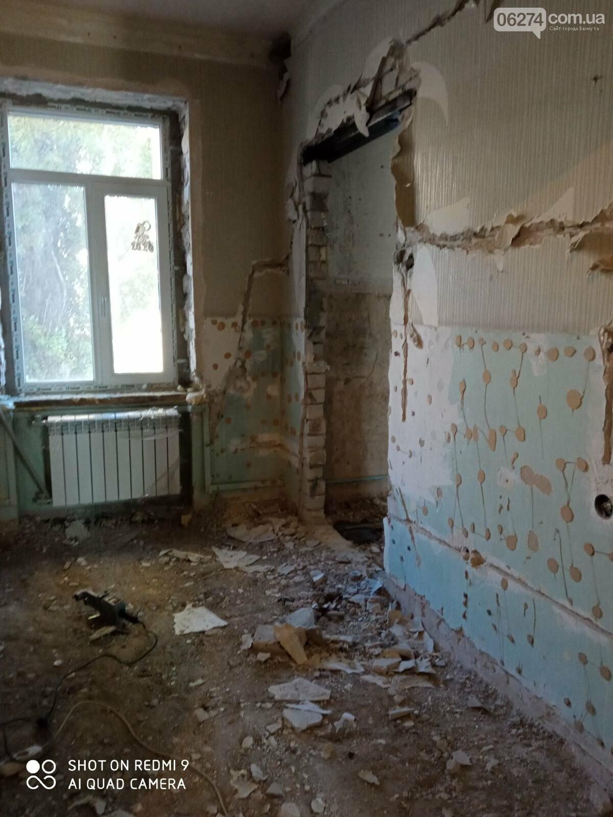 В Бахмутской больнице продолжается ремонт хирургического отделения, фото-7
