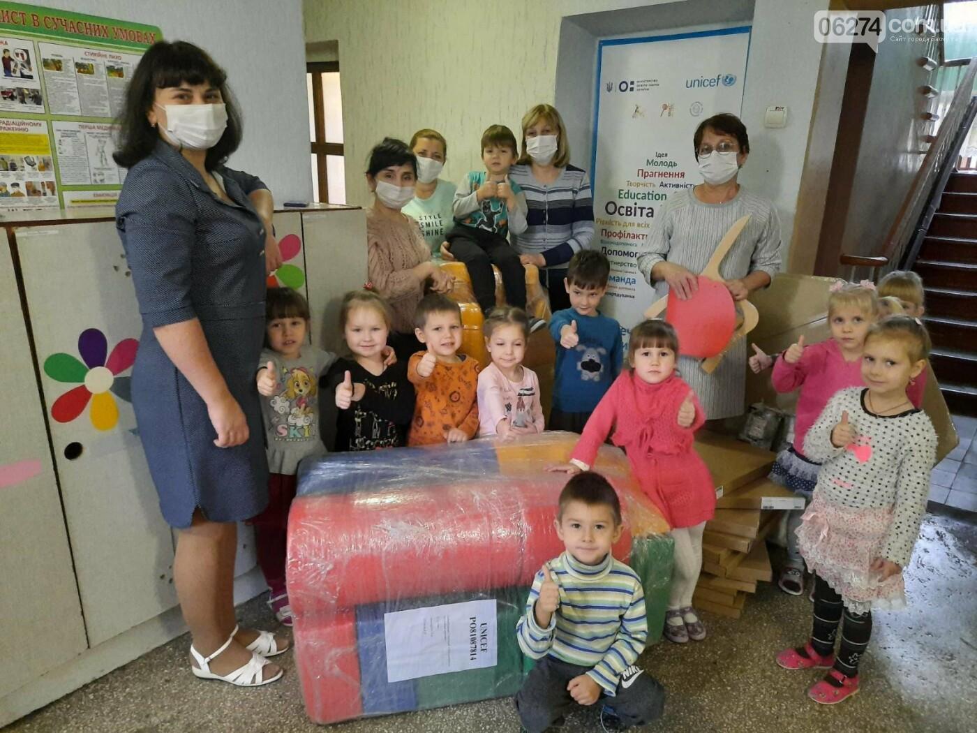Детские сады Бахмутской ОТГ получили мебель и оборудование от ЮНИСЕФ, фото-1