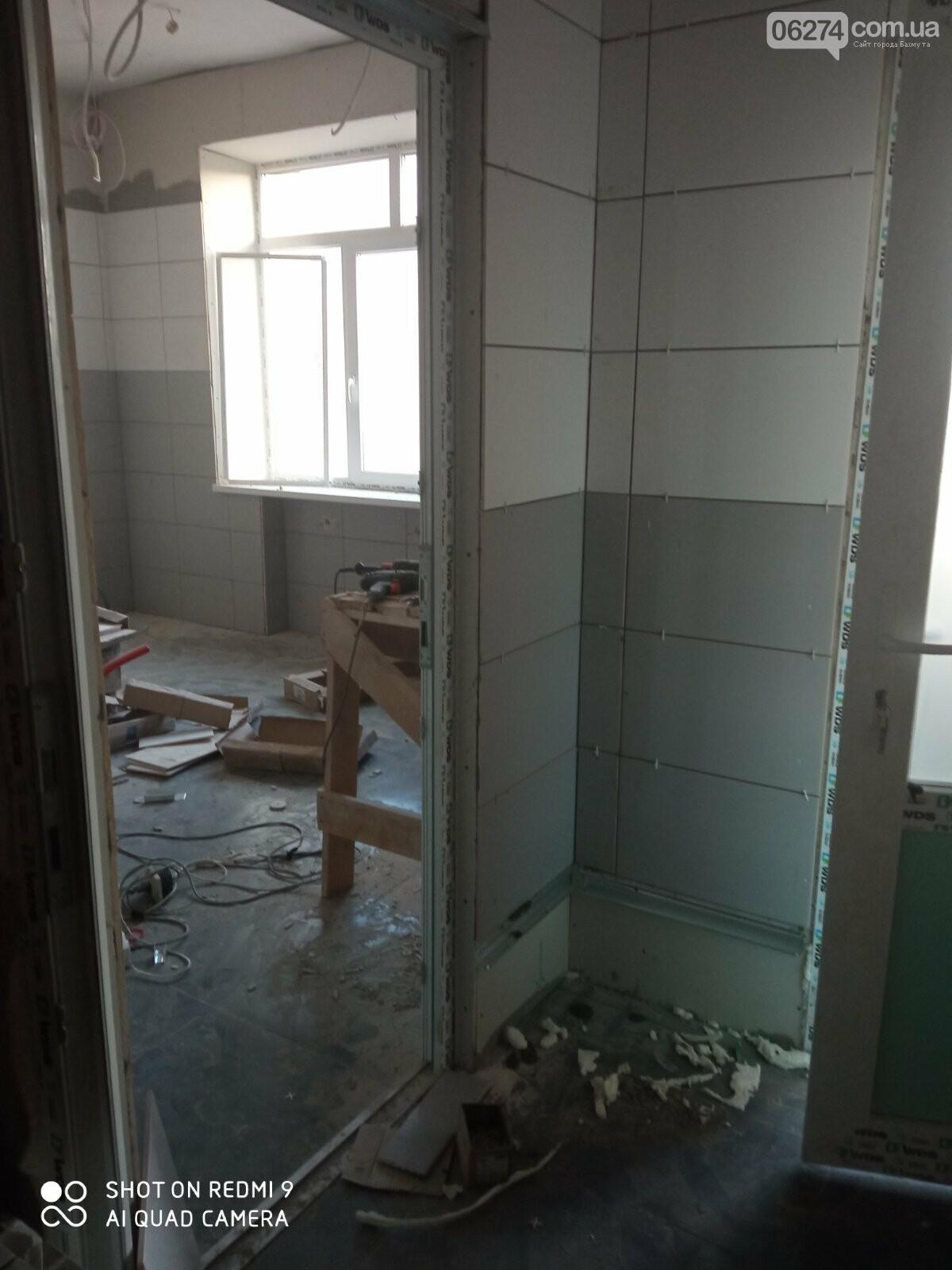 В Бахмутской больнице продолжается ремонт хирургического отделения, фото-2