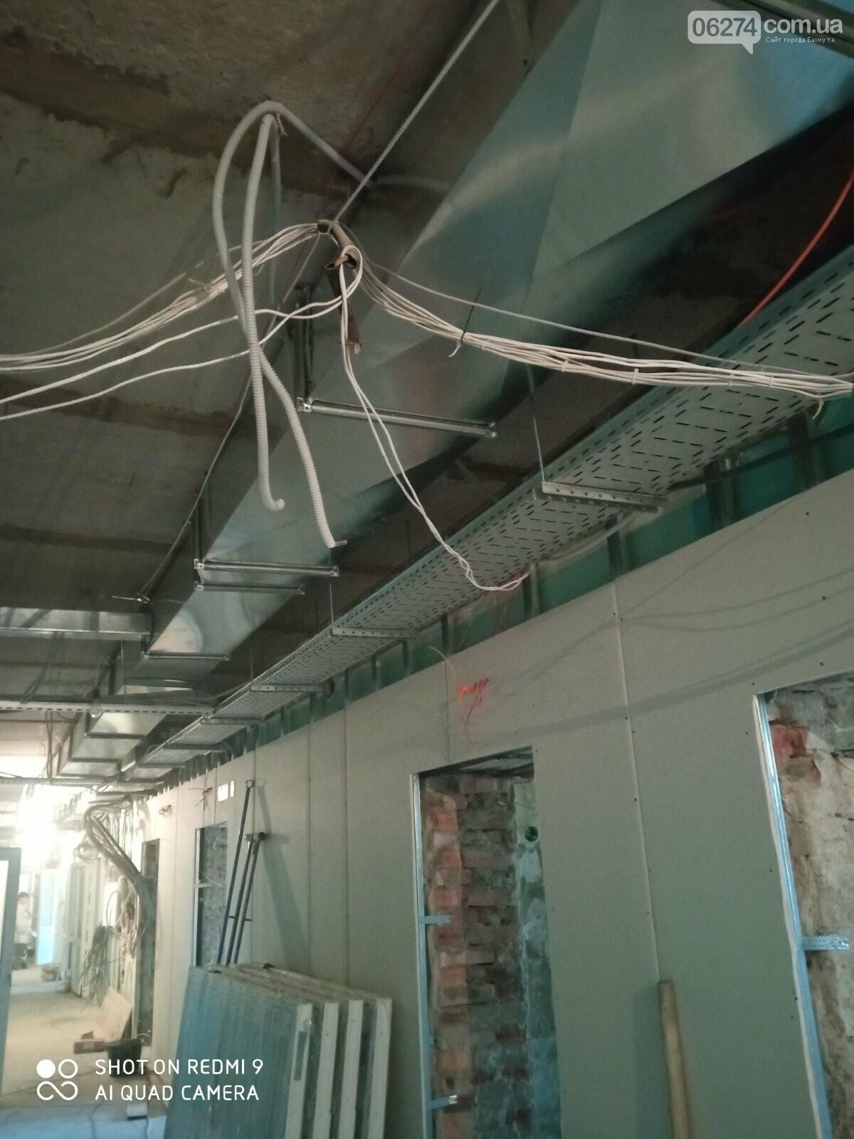В Бахмутской больнице продолжается ремонт хирургического отделения, фото-4