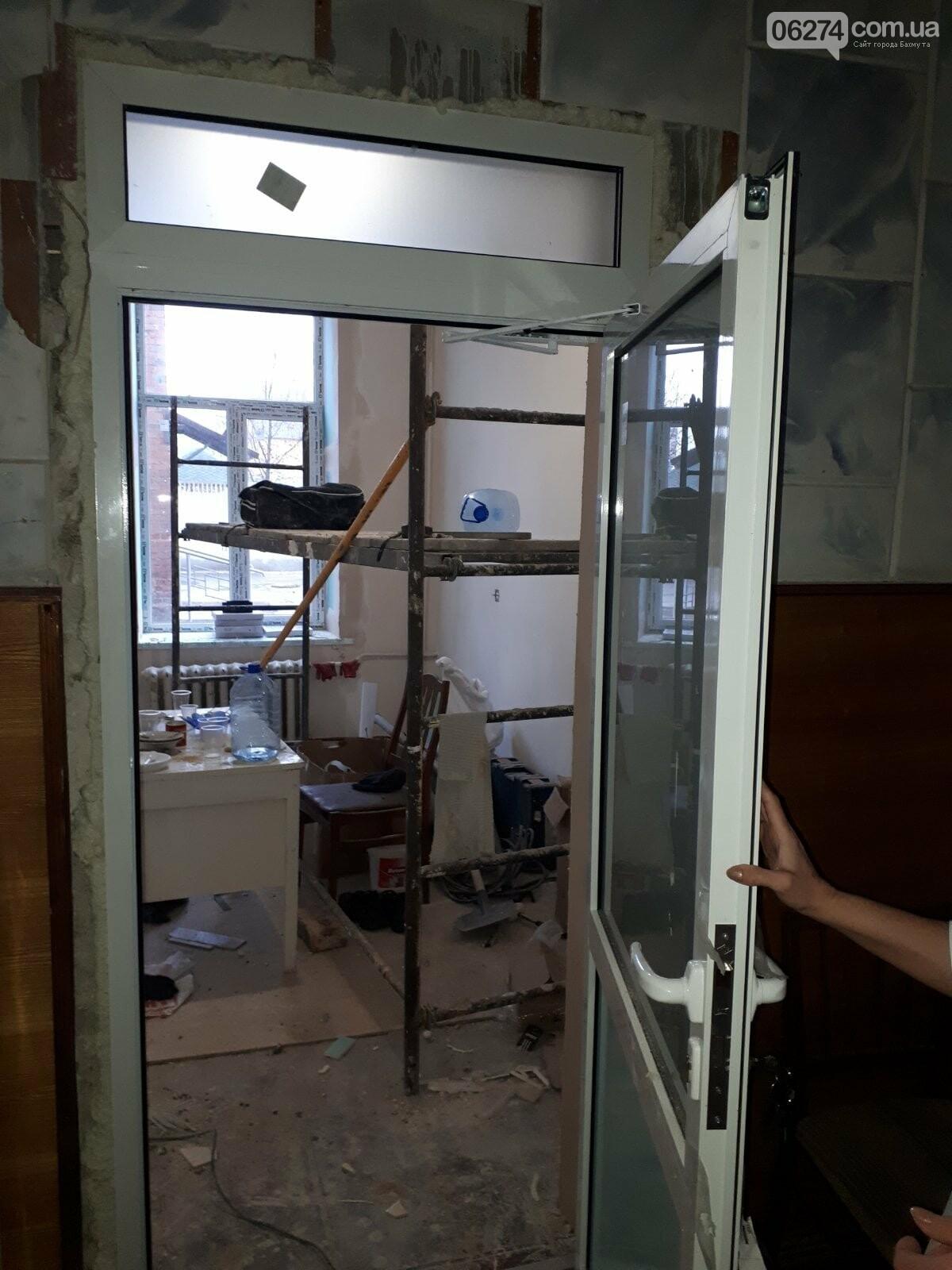 В Бахмуте продолжается реконструкция больницы, фото-4