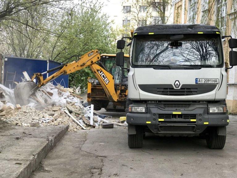 вывоз строительных отходов